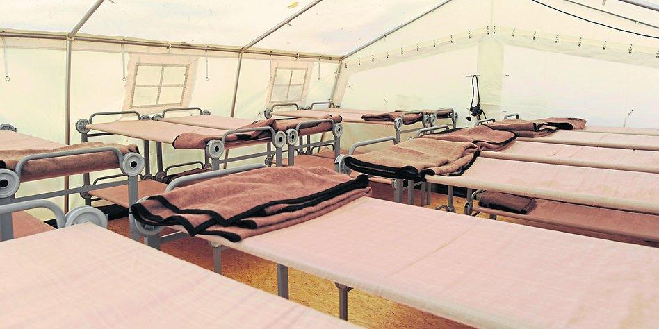 Flüchtlinge Zelte