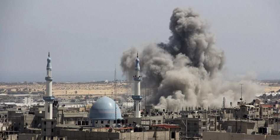 Eskalation Im Nahen Osten Israel Beschie T Auch Den
