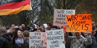 Demonstration in Marzahn