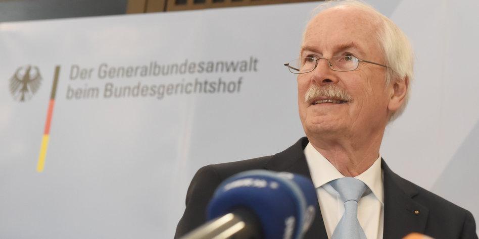 Ohne Ermittlung keine Beweise: Generalbundesanwalt <b>Harald Marx</b>. Bild: dpa - 14052804_range_dpa