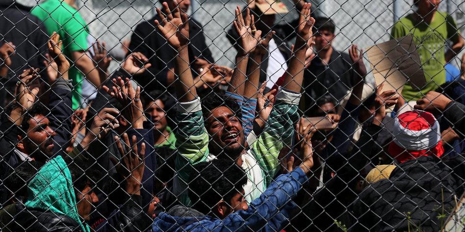 Protest Flüchtlinge