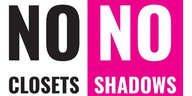 """No closets no shadows"" in einem Logo"