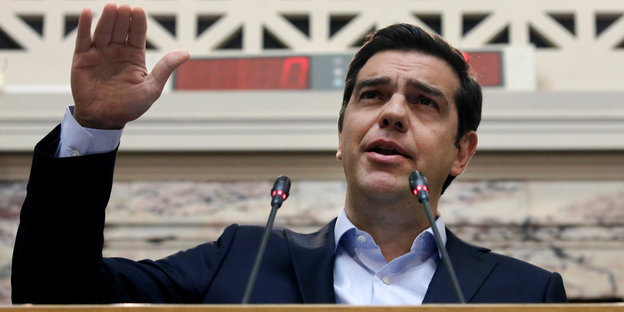 Alexis Tsipras winkt