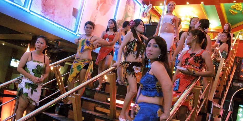 afrikanische Prostituierte in Bangkok