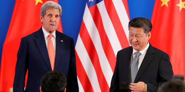 US-Außenminister John Kerry und Chinas Präsident Xi Jinping