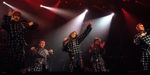 Die Boyband Take That im Konzert 1994