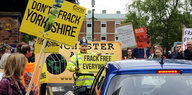 Fracking-Gegner in England protestieren