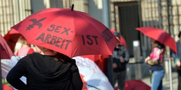 Die Prostituierte hat geschützt