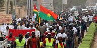 Eine Demonstration in Burkina Faso