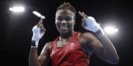 Nicola Adams in Siegerpose