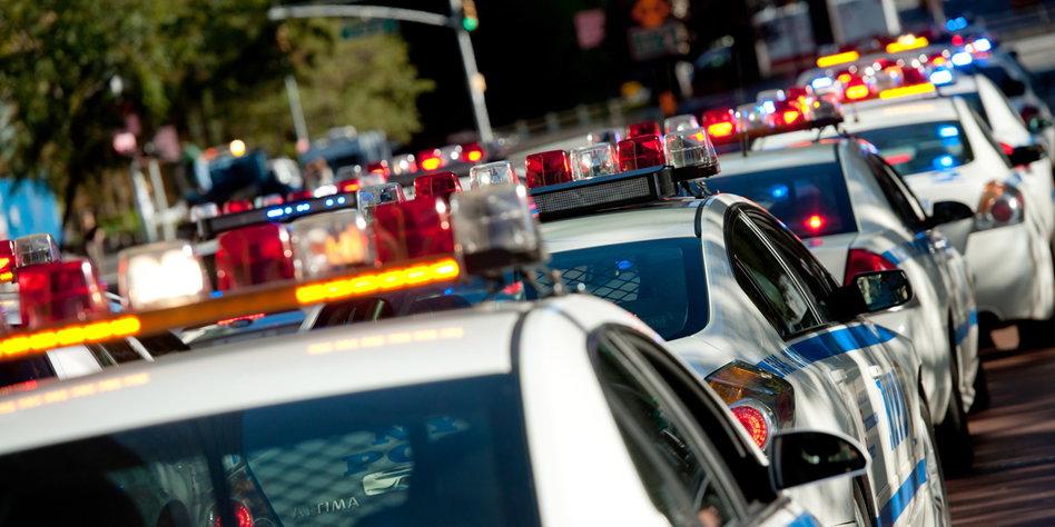Deutsche Polizei Führt Rotlicht Ein Autofahrer Seht Die Signale