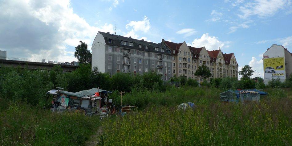 wohnen auf brachfläche: platzverweis für obdachlose - taz.de