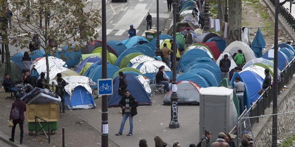 Flüchtlinge Paris