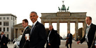 Obama vor dem Brandenburger Tor