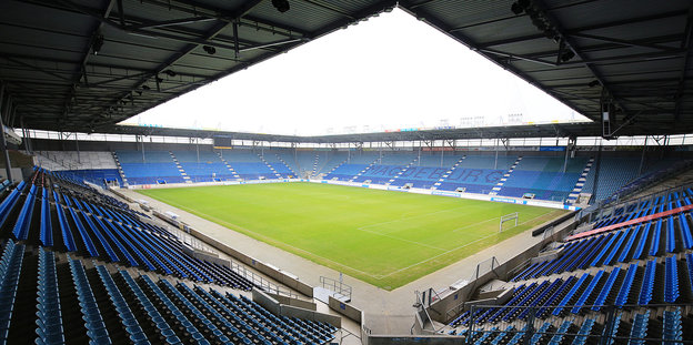 Blick in das Innere des Stadions in Magdeburg