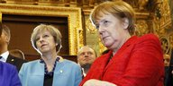 Theresa May und Angela Merkel in Valletta
