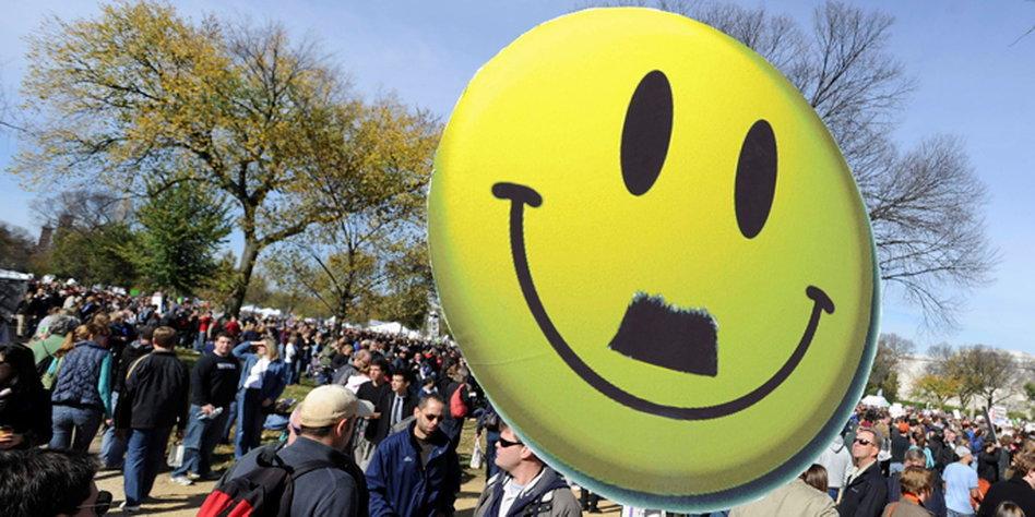 Fast so schlimm wie Hitler: Das Smiley. Bild: reuters
