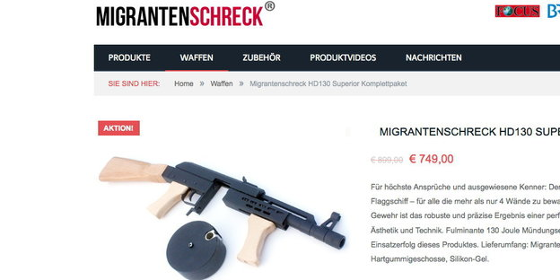 Screenshot: migranteschreck