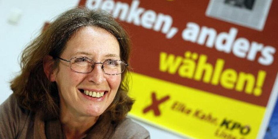 KPÖ-Politikerin <b>Elke Kahr</b> im Porträt: Die rote Erfolgsfrau aus Graz - taz.de - kahr.dpa