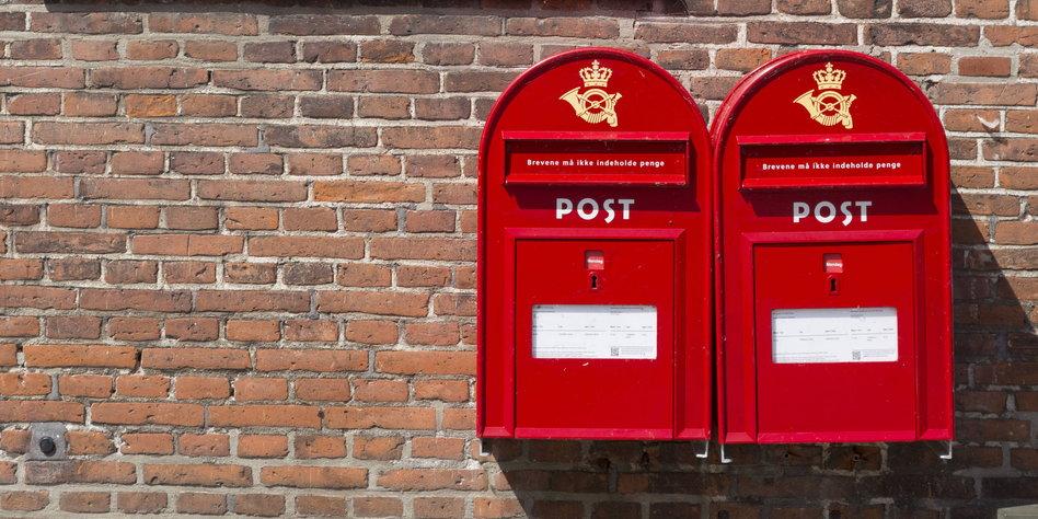 Selten gesehen: Der Briefträger