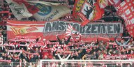 Der Fan-Block des 1. FC Union Berlin