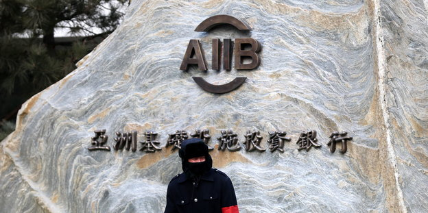 Wächter vor der Asian Infrastructure Investment Bank