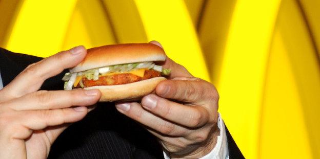 McDonalds rein vegetarisch: Burger mit Kartoffelklops