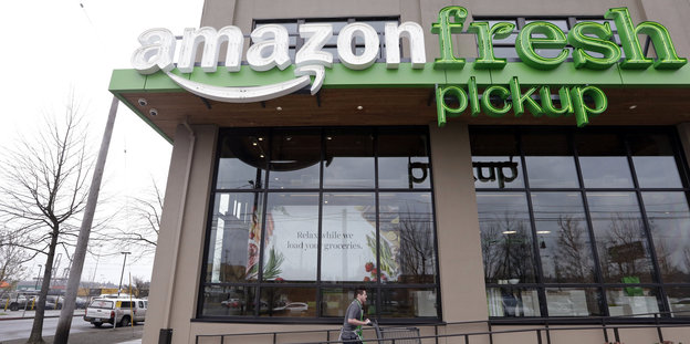 Bild einer Filiale des Lieferservice Amazon fresh in Seatlle (USA)