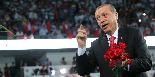 Erdogan wirft Nelken