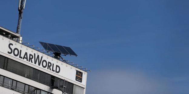 Ein Gebäude von Solarworld