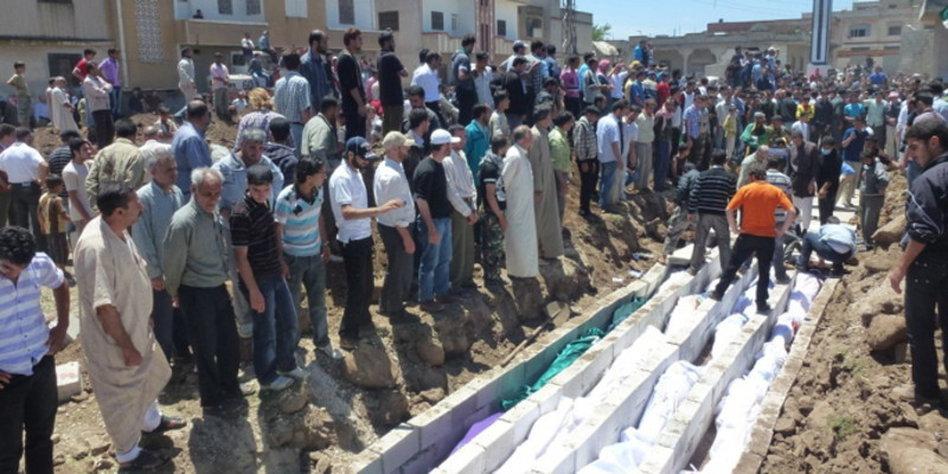 Bürgerkrieg in Syrien: UN verurteilen Massaker in Hula ...