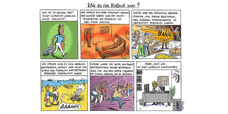 Der Wahrheit Comic Am Samstag Wie Es Im Urlaub War Tazde
