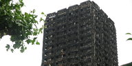 Hochhausruine Grenfell Tower