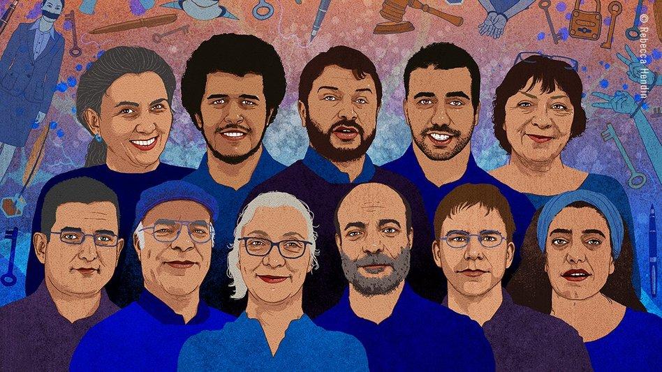 Die angeklagten Menschenrechtler.