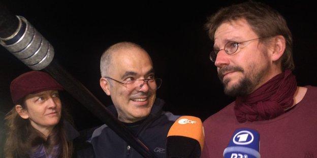Peter Steudtner nach seiner Freilassung.
