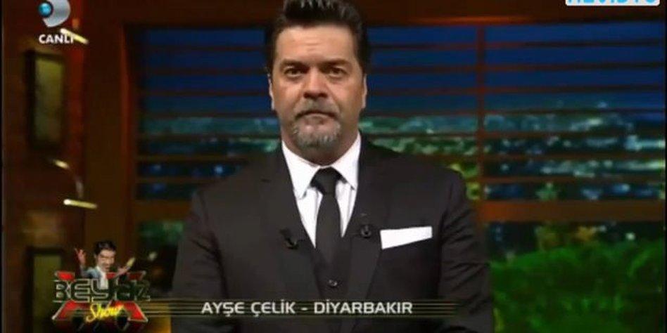 Der Talkshowmoderator Beyaz.