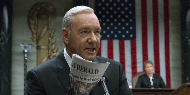 "Kevin Spacey in der Serie ""House of Cards"""