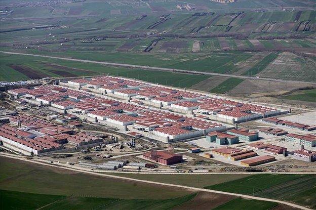 Das Gefängnis Silivri Nr. 9 von Oben
