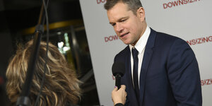 Matt Damon wird interviewt