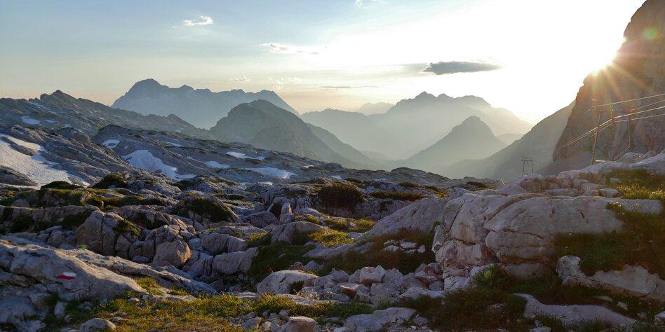 Hochplateau steinernes meer  ingolstaedter haus blick richtung kallbrunnalm