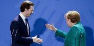Kommentar Sebastian Kurz in Berlin: In die Ecke stellen hilft nicht