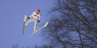 Richard Freitag bei der Skiflug-WM: Oben nervös