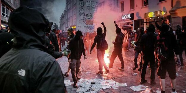 Demonstranten beim G20-Protest