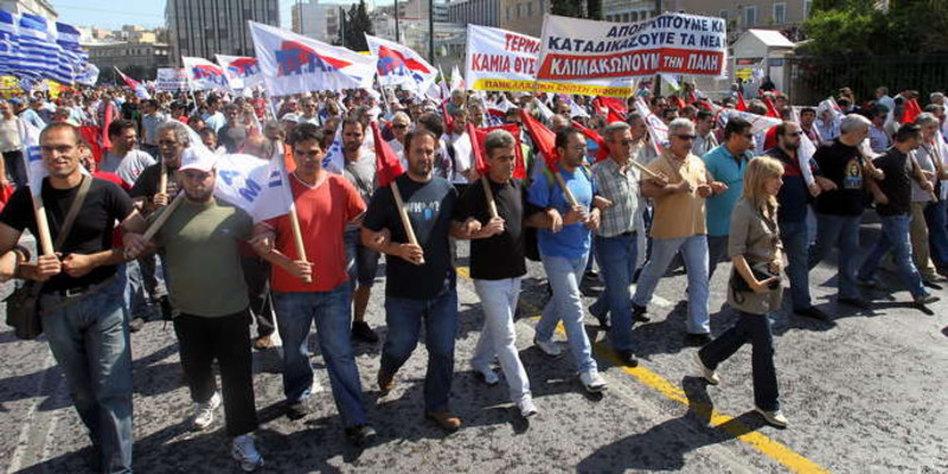 Griechenland Streik