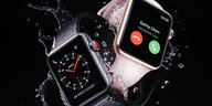 Zwei Apple-Watches in Nahaufnahme
