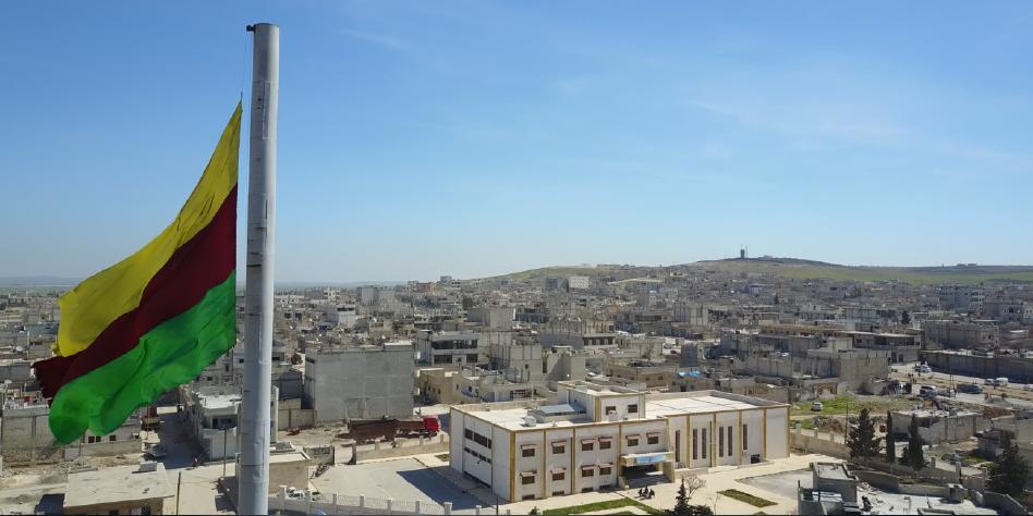 Blick auf die Stadt Kobani