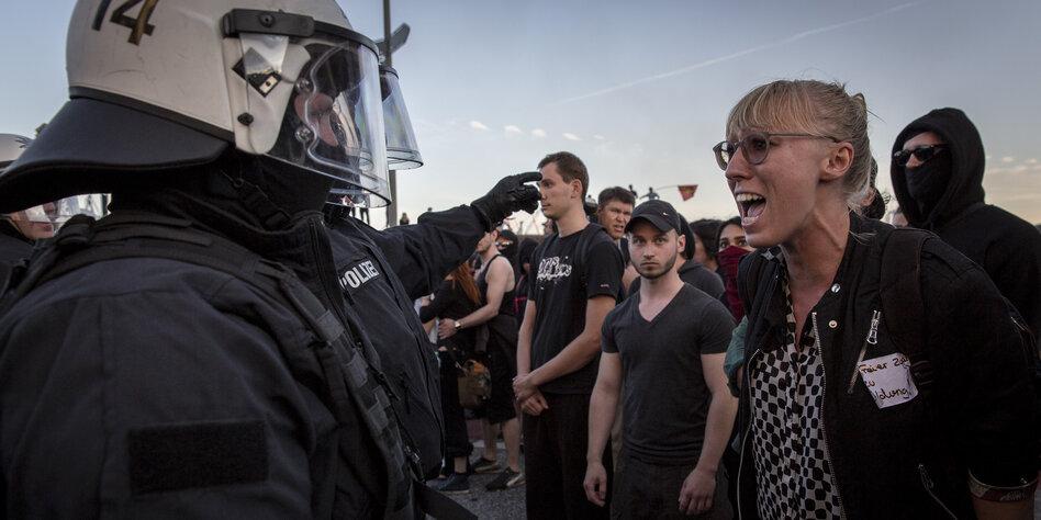 demonstrationsverbotszone in hamburg