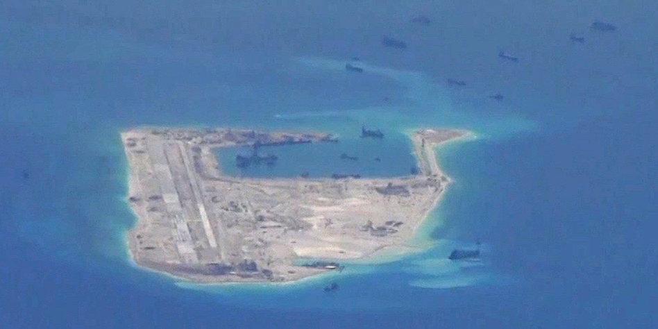 Südchinesisches Meer : Militärausbau: China stationiert Raketen auf den Spratly-Inseln