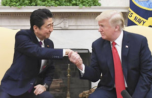Shinzo Abe und Donald Trump