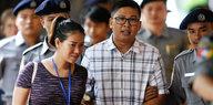 Prozessbeginn in Myanmar: Journalisten drohen 14 Jahre Haft